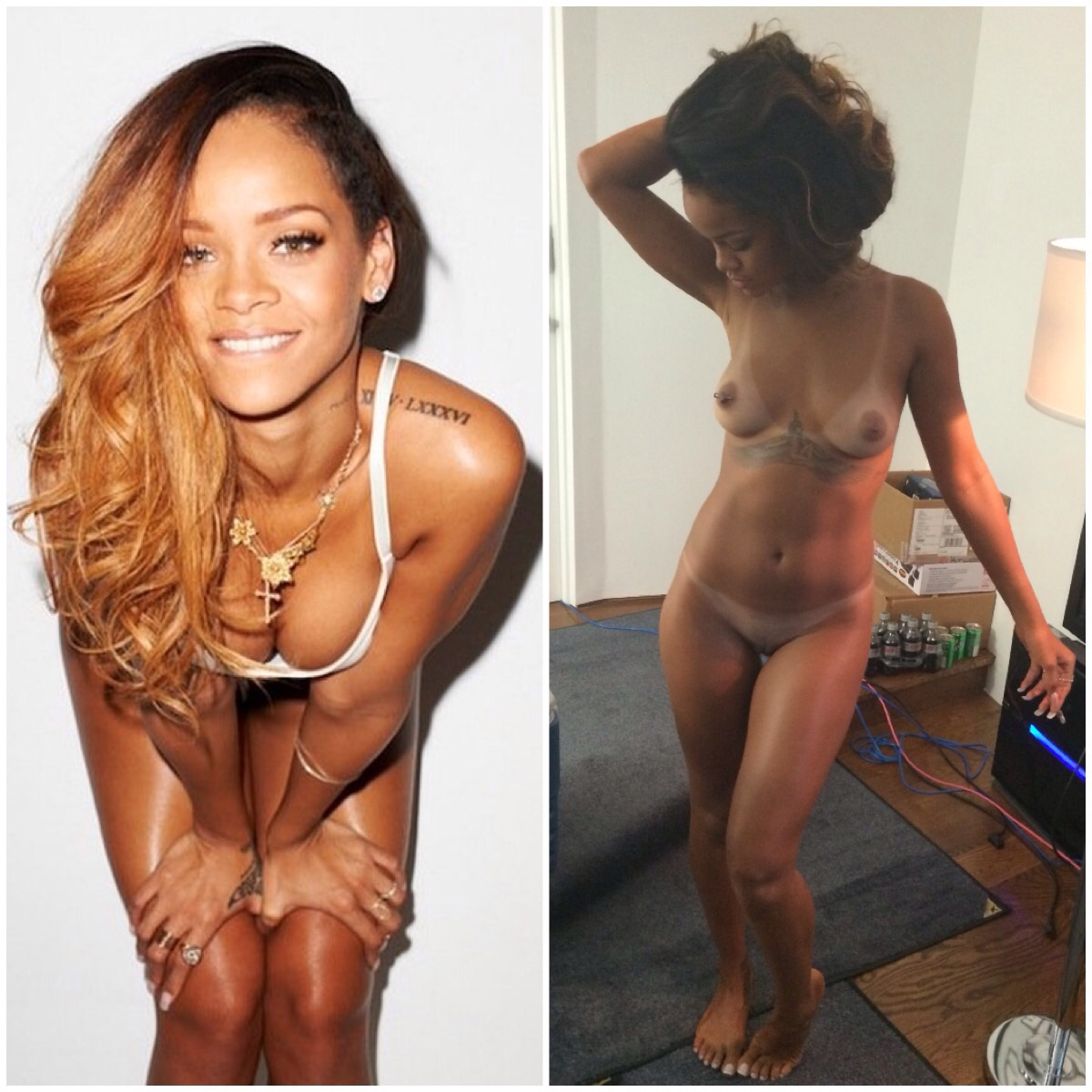 Rihanna goes blonde
