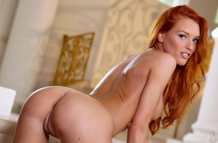 Stunning Redhead Jenny Blighe Shows Off Her Skinny Ass Wicked Pictures 1