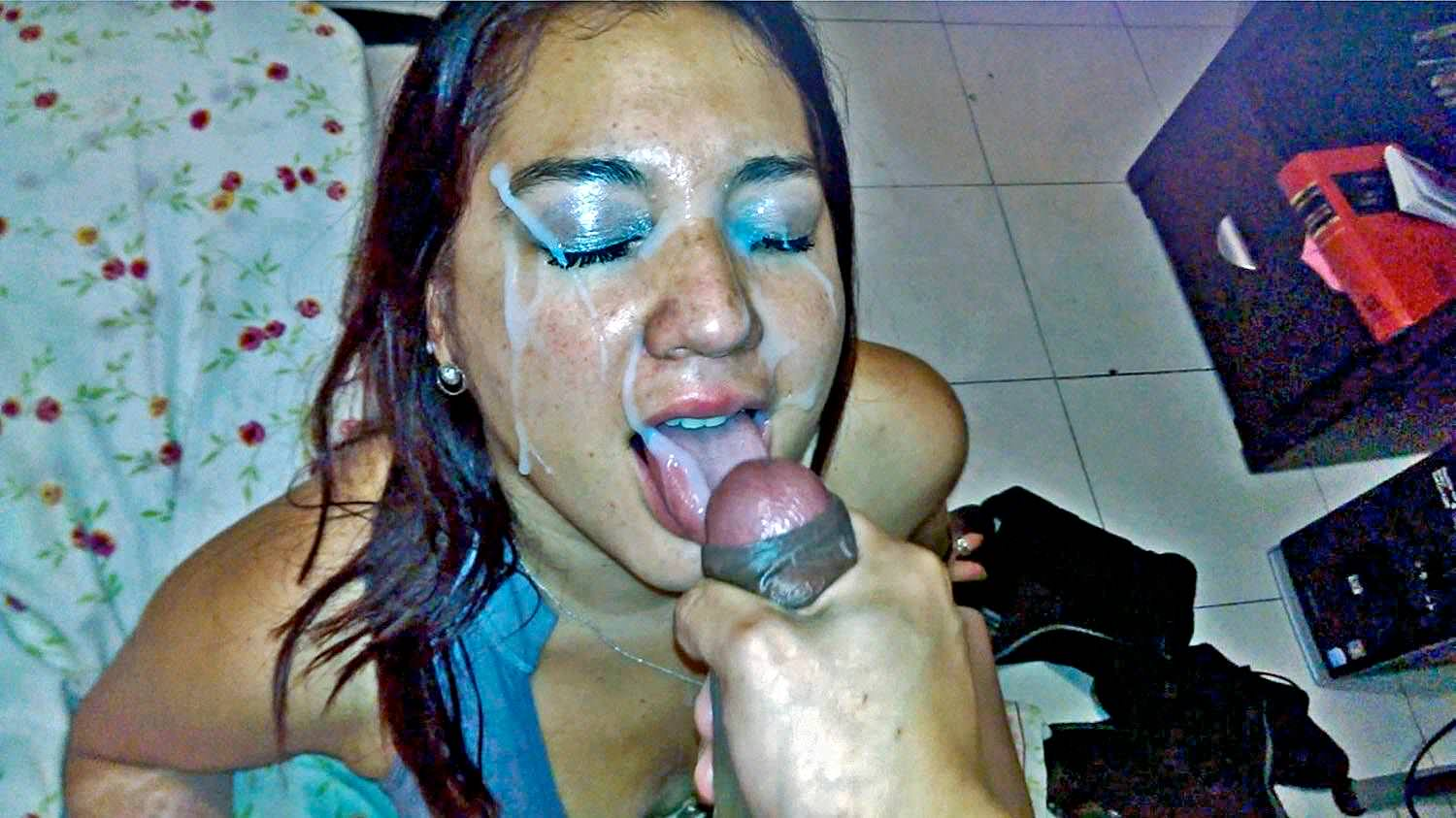 Asshole filled with load of sperm free porn