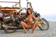 amateur photo A Girl and a Bike