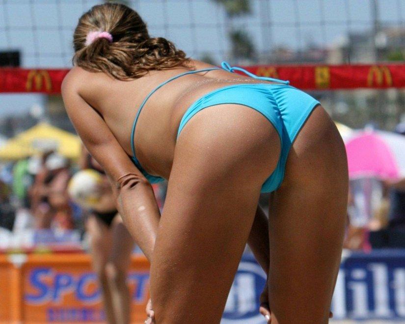 Beach volleyball nude shots