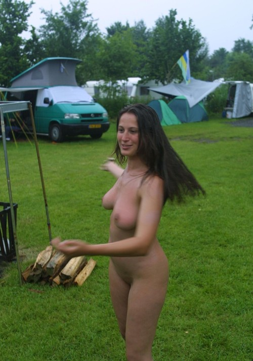 Sexy first time pics brunette babe posing nude outdoors