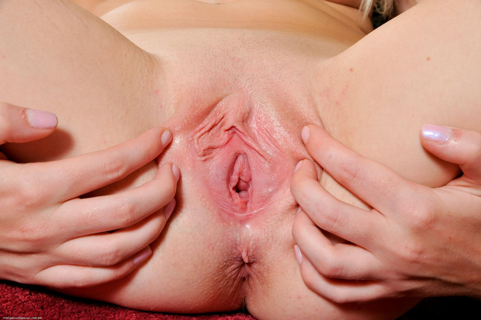 Virgin tight shaved pussy