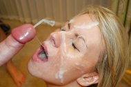 cum on her face & more on the way