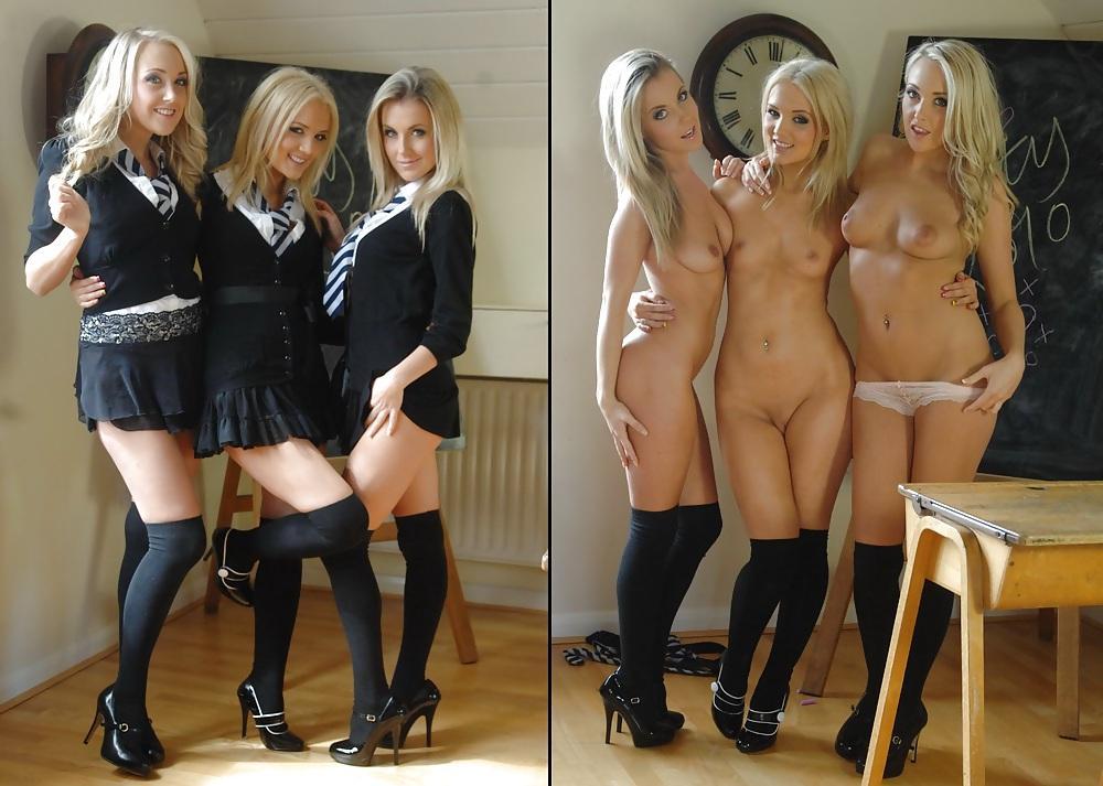 Sexy lingerie hot seductive green sexy school uniform for girls crop t borizcustom