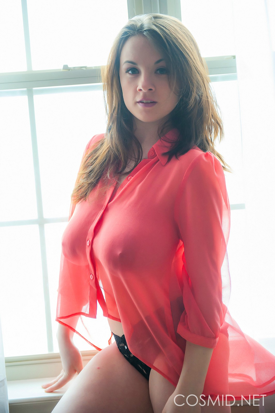 Red sexy knit shirt