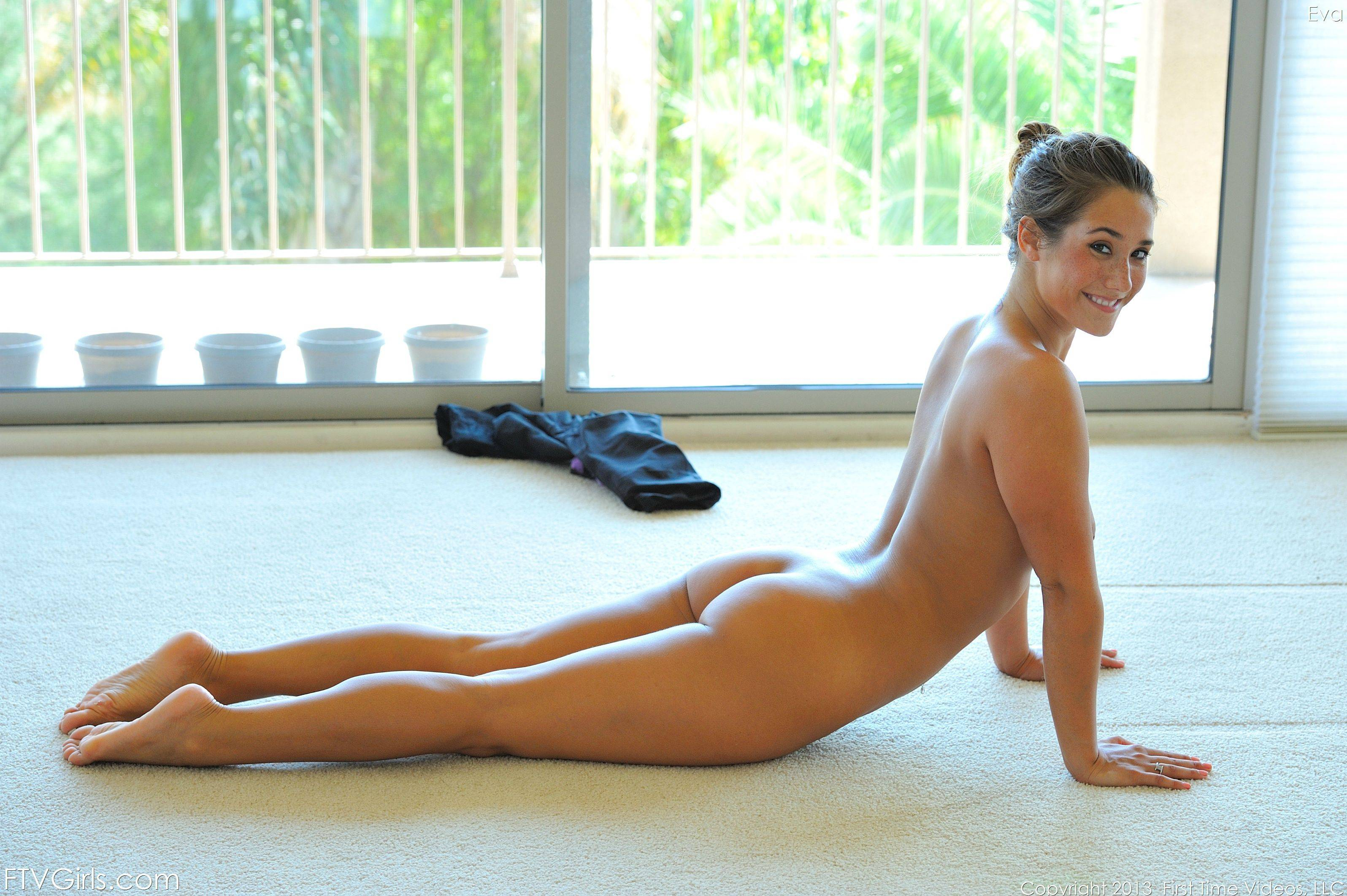 Watch Eva Lovia Nude Yoga Session
