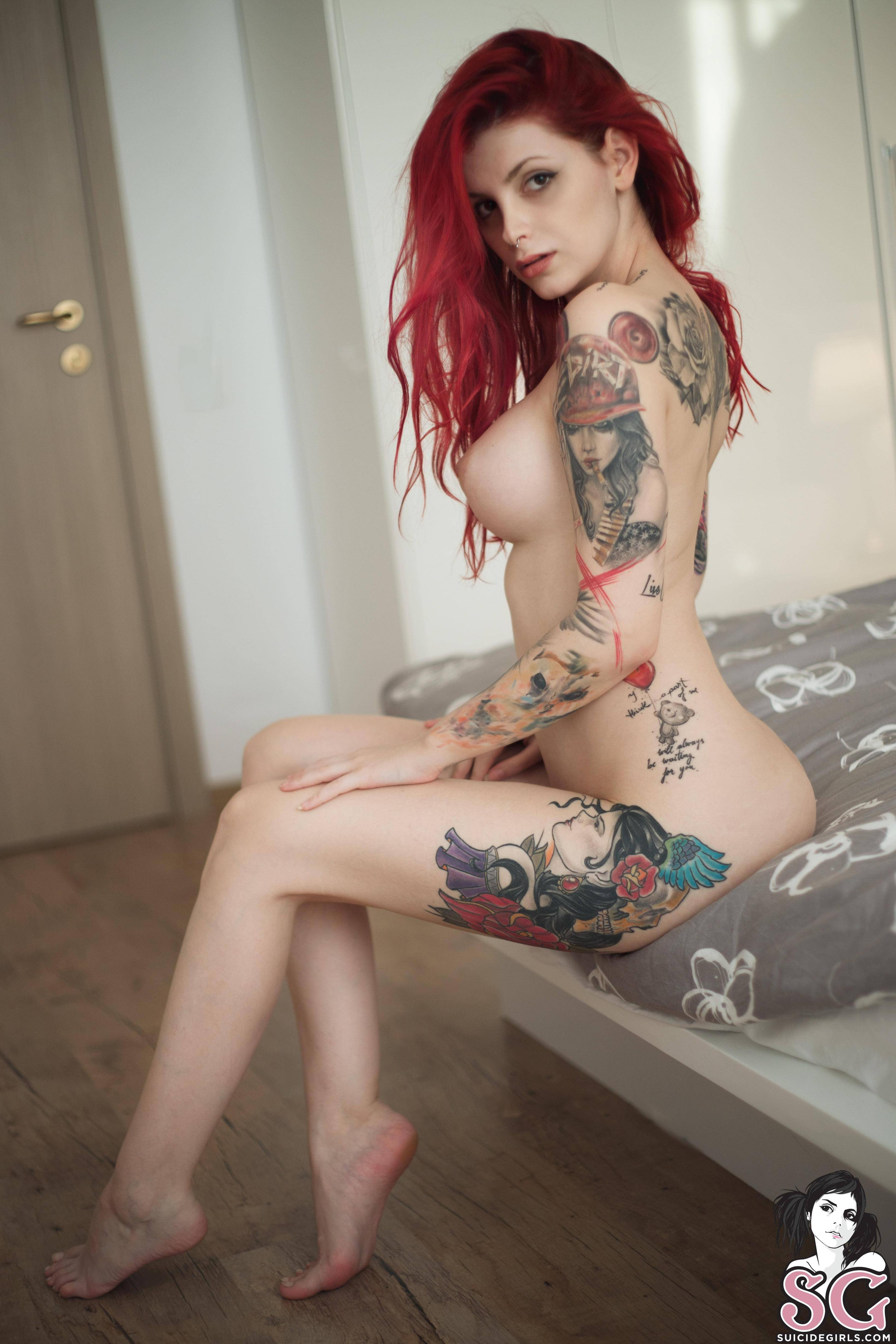 Tattooed naked redheads getting fucked and ass