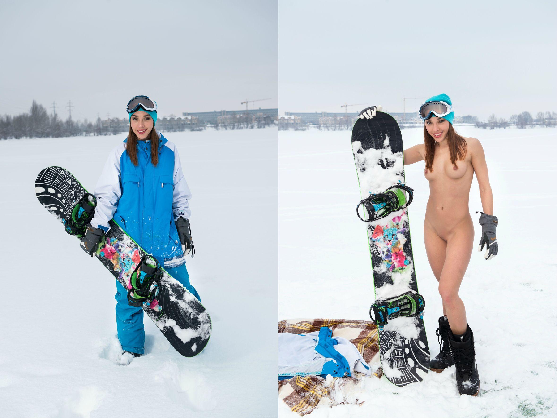 Daniela snowboard girl
