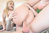 Blonde enjoying the cock
