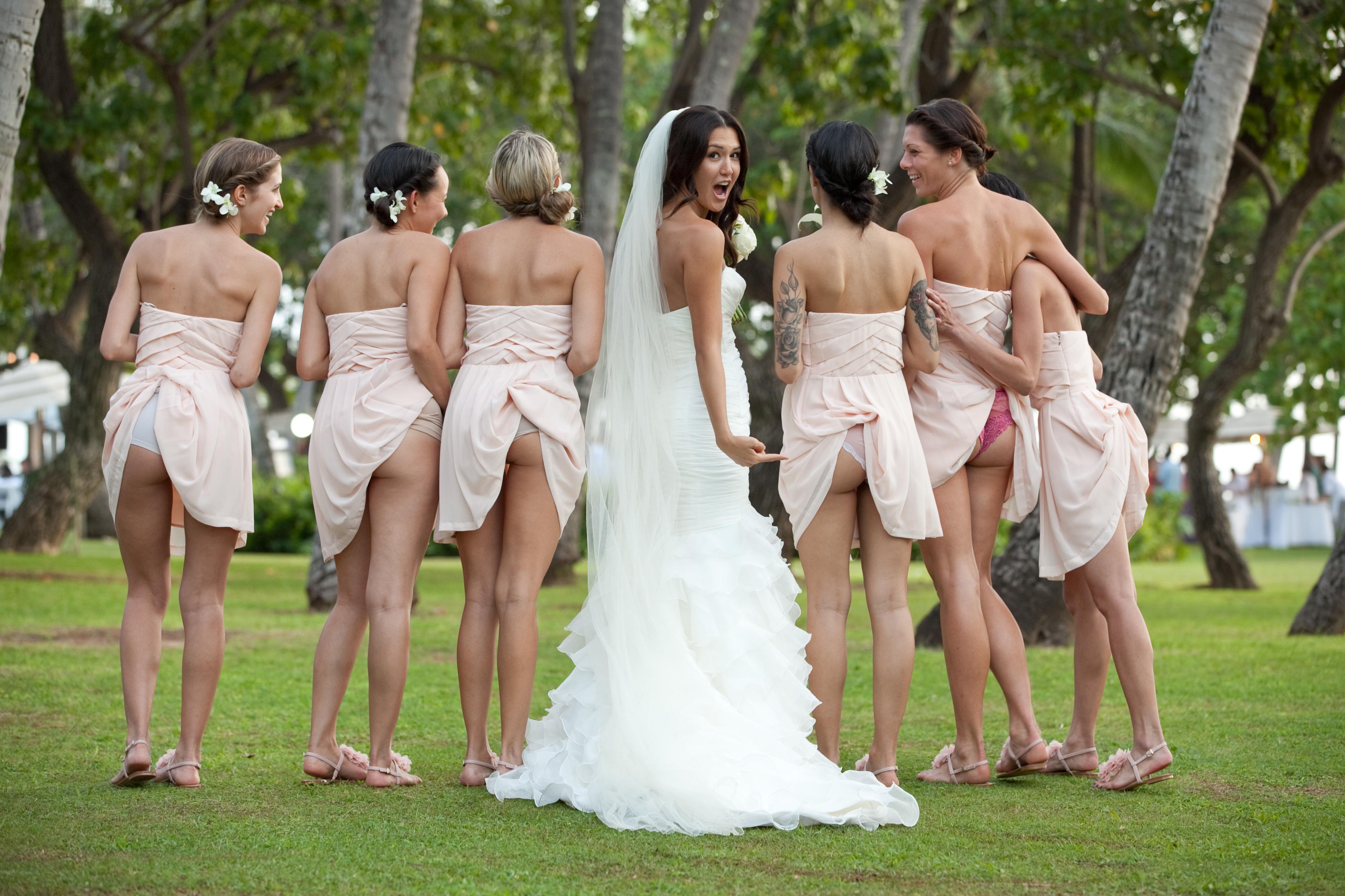 Bride Sharing Big Cock With Her Horny Bridesmaids