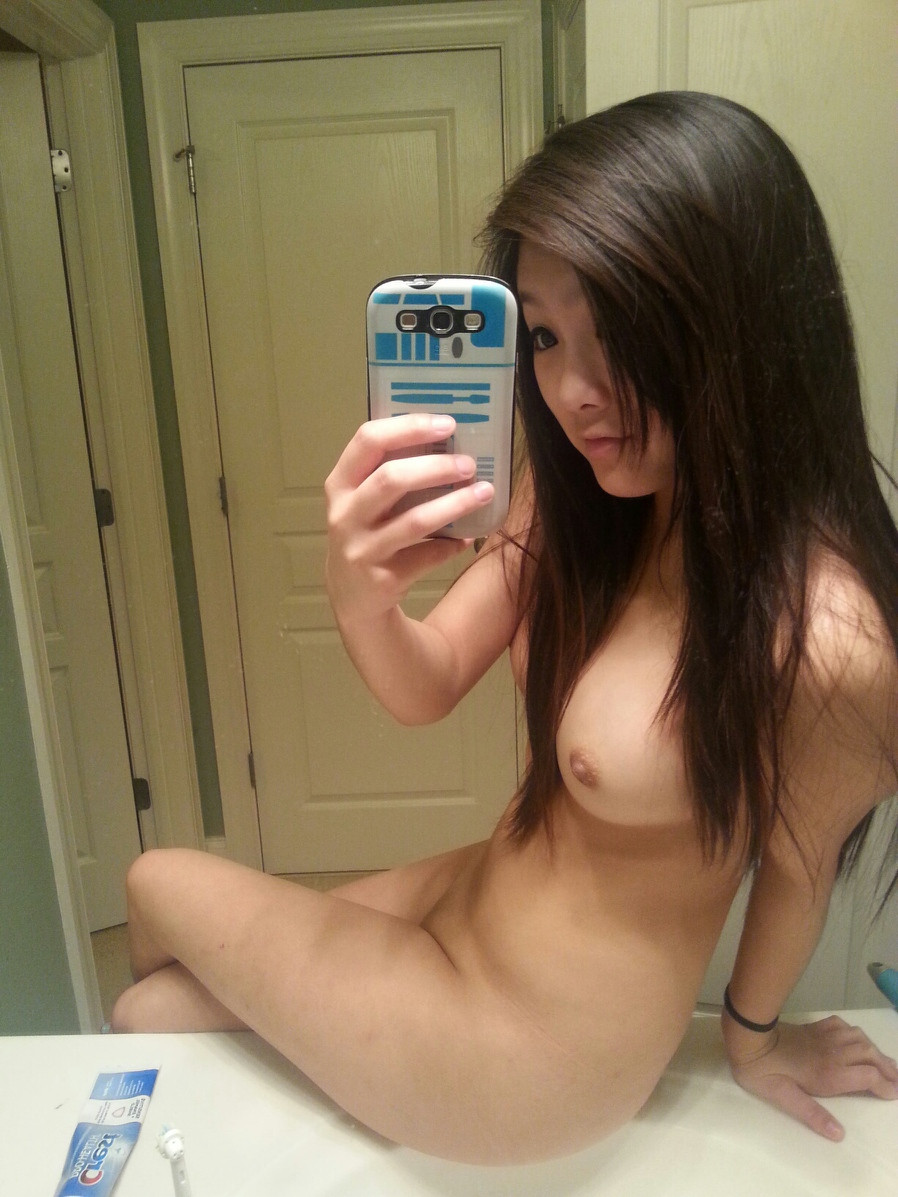 Hot sexy naked girl selfie