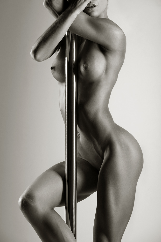Naked black females stripper