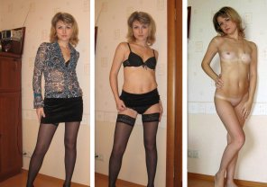 amateur photo Pretty blond milf on/off