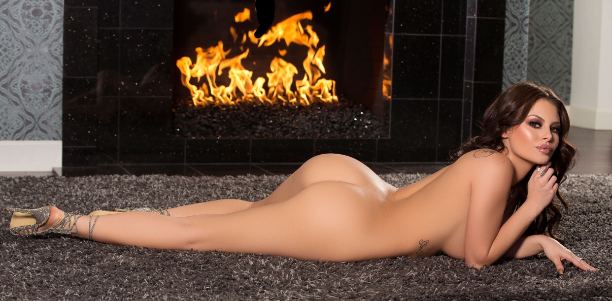 Slut flashing her hot ass in front of a fire hydrant