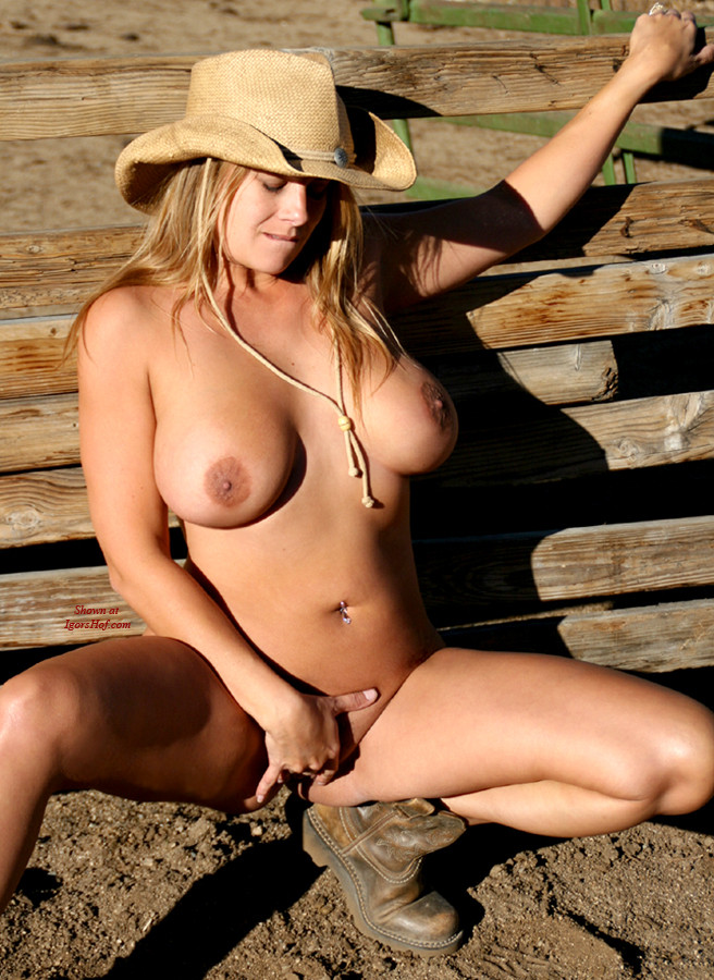Wearing baseball girls cap nude