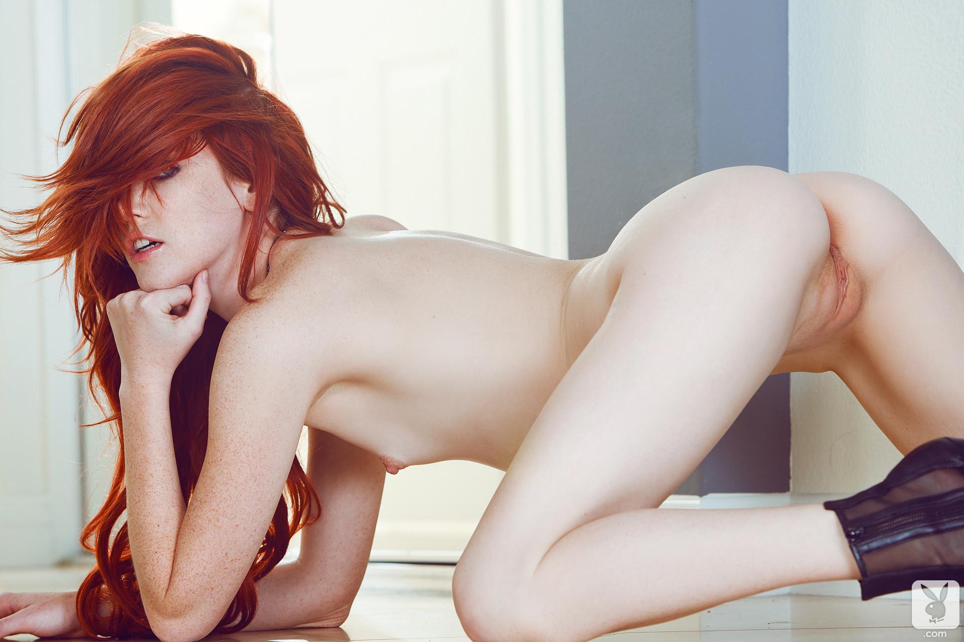 Auburn haired babe sex