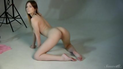 Naked Chick At Photo Session