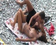 Kinky Action On The Beach