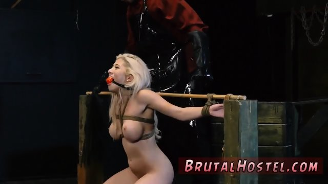 Brutal violent sex first time Rope bondage, whipping, extreme harsh sex, gagging,