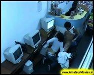 Amateur - Brasilian Couple In Internet Cafe