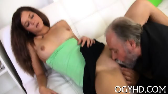 Old fat dude drills young pussy